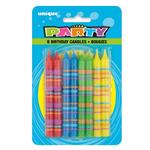 Unique Party Striped Birthday Candles
