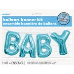 Unique Party Blue Baby Balloon Banner kit