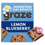 Graze Blueberry & Lemon Flapjack with Super Baobab
