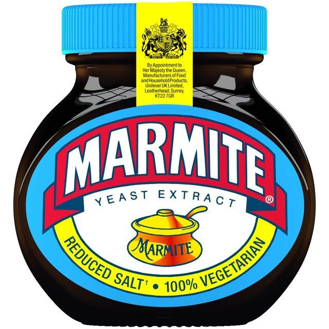 Image result for 25% less salt marmite
