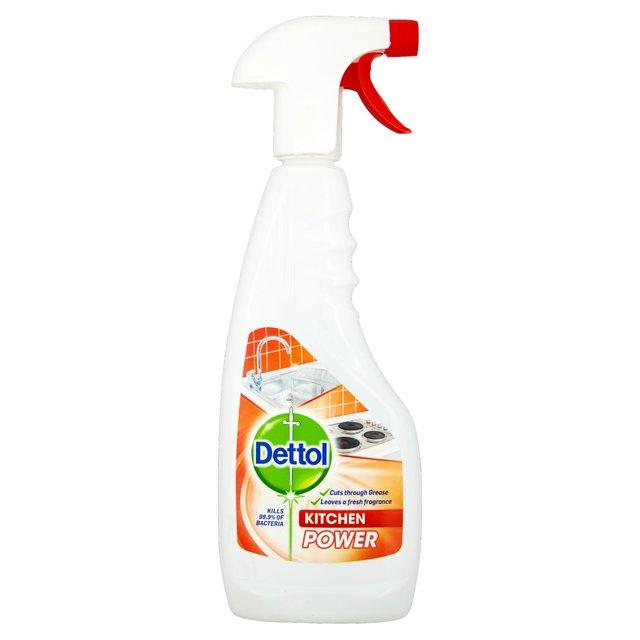 How To Get Burn Marks Off Bathroom Sink: Dettol Kitchen Power Spray 440ml From Ocado