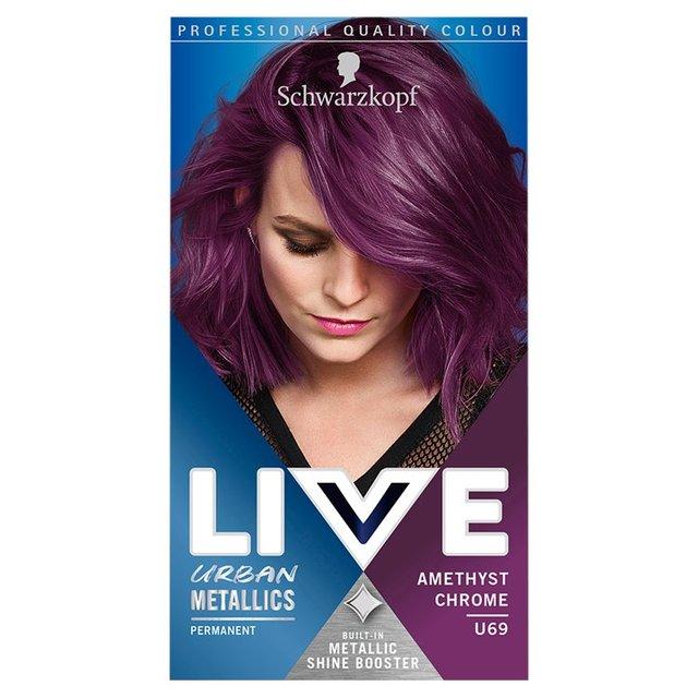 Schwarzkopf Live Colour Urban Metallics U69 Amethyst Chrome Hair Dye