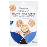 Clearspring Organic Brown Rice Chips 100% Wholegrain