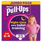 Huggies Pull Ups Jumbo Pack, Night Time Large Girls