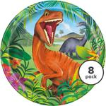 "Unique Party Dinosaur 9"" Plate"