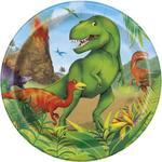 "Unique Party Dinosaur 7"" Plate"