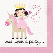 Unique Party Pink Princess and Unicorn Lunch Napkins
