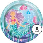 "Unique Party Mermaid 9"" Plate"