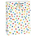 Unique Party Rainbow Polka Dot Jumbo Gift Bag