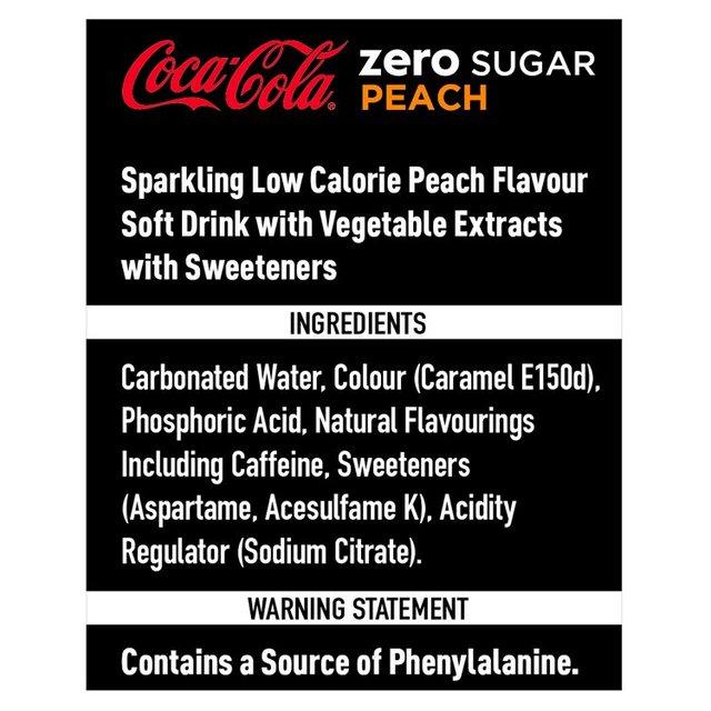 Coca-Cola Zero Sugar Peach | Ocado