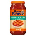 Uncle Bens Sweet & Sour No Added Sugar 440G