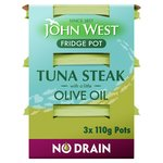 John West No Drain Tuna Steak with Olive Oil