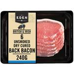 Eden Unsmoked Dry Cured Back Bacon