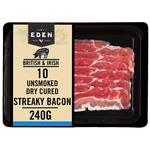 Eden Unsmoked Dry Cured Streaky Bacon