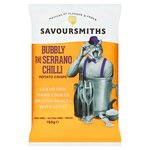 SAVOURSMITHS Champers & Serrano Chilli Luxury English Potato Crisps