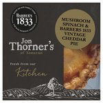 Jon Thorners Mushroom, Spinach & Barbers 1833 Vintage Cheddar Pie