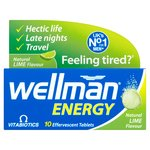 Vitabiotics Wellman Lime Energy Tablets