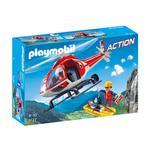 Playmobil 9127 Mountain Rescue Helicopter with Working Winch