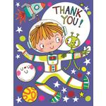 Rachel Ellen Designs Spaceman & Alien Thank You Cards