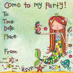Rachel Ellen Designs Mermaid Party Invites