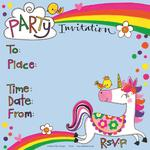 Rachel Ellen Designs Unicorn Party Invites