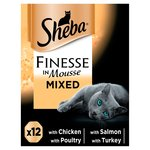 Sheba Finesse Cat Trays Mixed Collection in Mousse