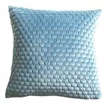 Gallery Direct Honeycomb Quilted Cushion Duckegg 45x45cm