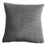 Gallery Direct Honeycomb Quilted Cushion Grey 45x45cm