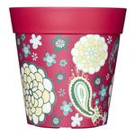 Hum Outdoor / Indoor Pot - Pink Flowers