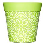 Hum Outdoor / Indoor Pot - Lime Green Lattice
