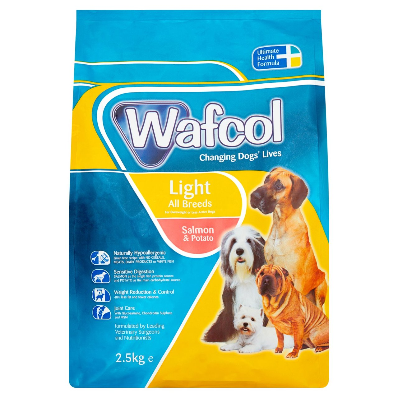 Wafcol Light Salmon Potato Dry Dog Food 12kg