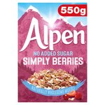 Alpen No Added Sugar Strawberry,Cranberry & Raspberry