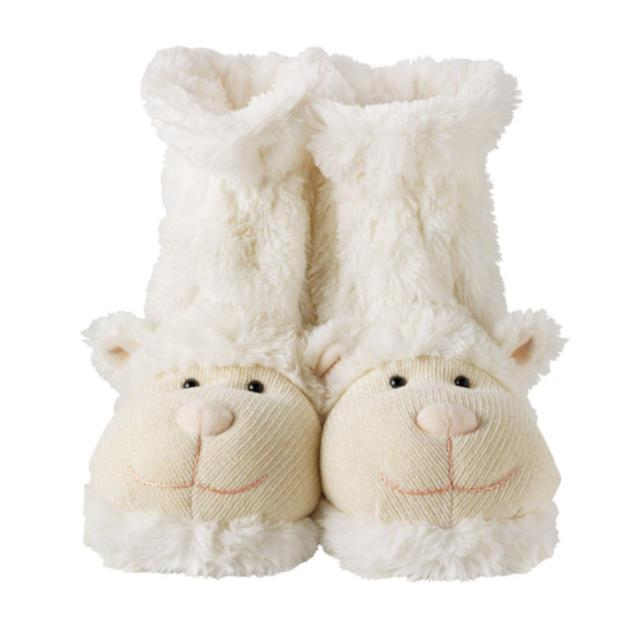 Aroma Home Knitted Lamb Boot Slippers