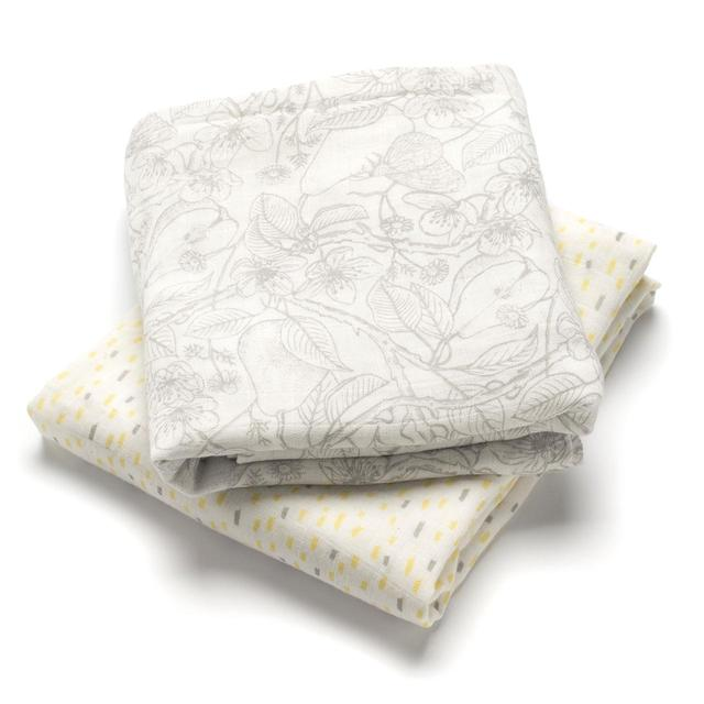 Storksak Mixed Print Muslin Swaddle Blankets