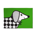 Jane Foster Sausage Dog Cotton Tea Towel