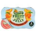 Hartley's Fruit in Jelly Peach in Strawberry Jelly Pot Multipack