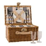 Two Person Wicker Picnic Hamper