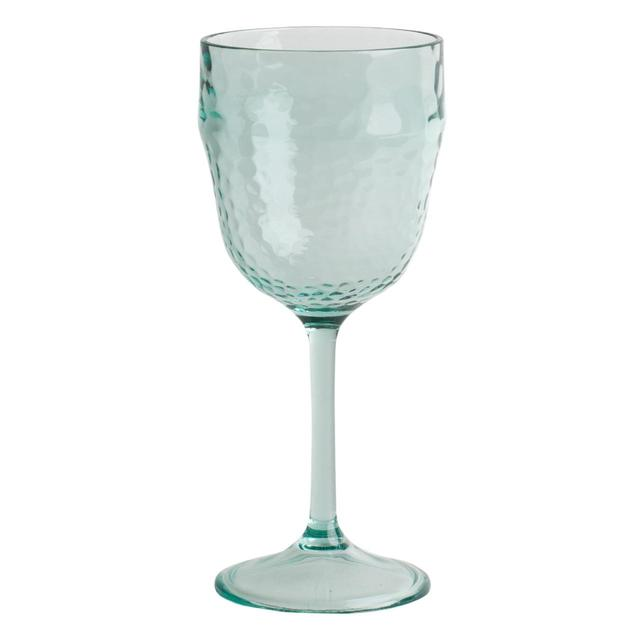 Acrylic Recycled Glass Effect Wine Glass