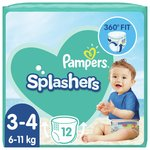 Pampers Splashers Size 3-4, 12 Swim Pants
