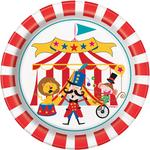 "Unique Party Circus Carnival 7"" Round Plates"