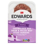 Edwards of Conwy 2 Caramelised Onion & Welsh Beef Steak Burgers