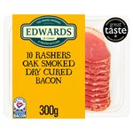 Edwards of Conwy 10 Rashers Traditional Dry Cure Smoke Flavour Bacon