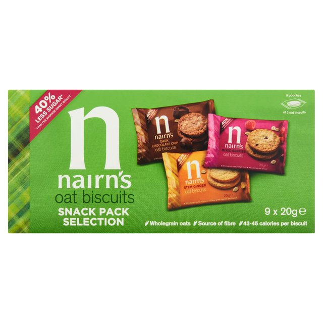 Nairn S 9 Oat Biscuits Snack Pack Selection Ocado