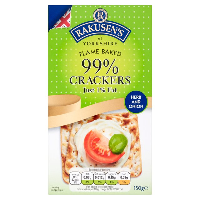 Rakusen's Herb & Onion Crackers