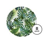 Talking Tables Tropical Fiesta Palm Print Round Paper Plates 9inch