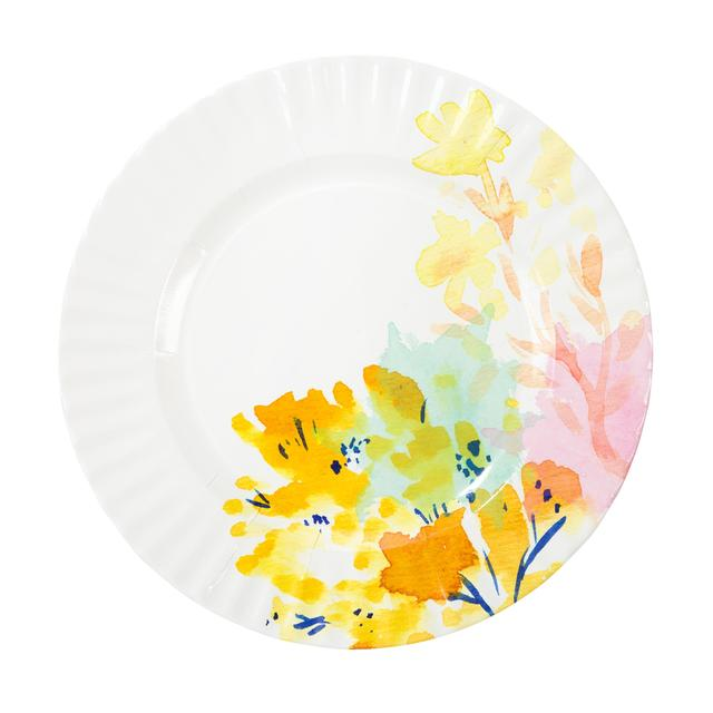 Talking Tables Fluorescent Floral Paper Plates 28cm 8 Per Pack From