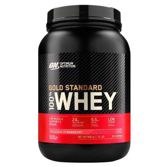 0d3399d6d Optimum Nutrition Strawberry Whey Protein Powder 908g from Ocado