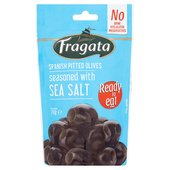 Fragata Pitted Black Olives with Sea Salt