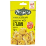 Fragata Pitted Green Olives with lemon
