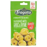 Fragata Pitted Green Olives with garlic & thyme